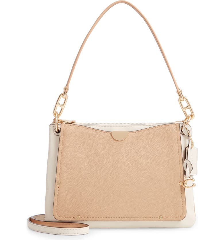 COACH Dreamer Colorblock Leather Shoulder Bag, Main, color, 280