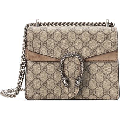 Gucci Mini Dionysus Gg Supreme Shoulder Bag - Beige