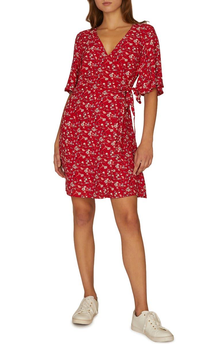 SANCTUARY Girl on Fire Faux Wrap Dress, Main, color, 611