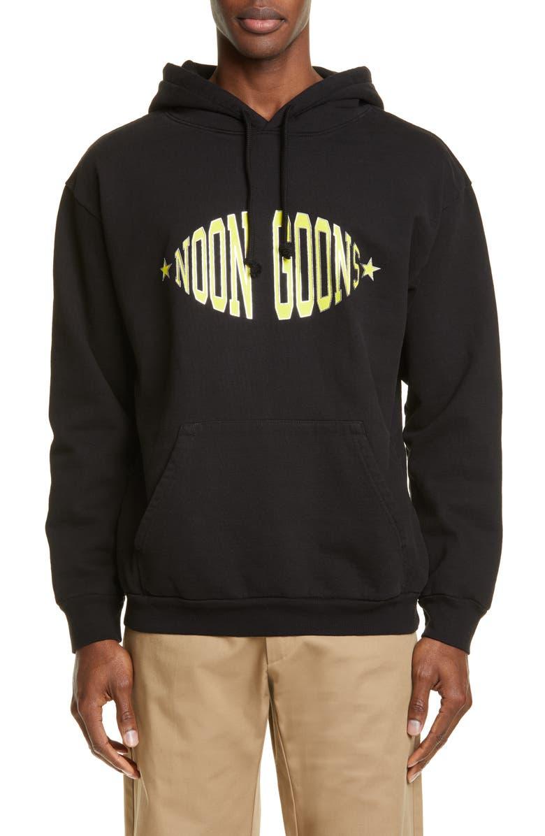 NOON GOONS Team Logo Hoodie, Main, color, BLACK