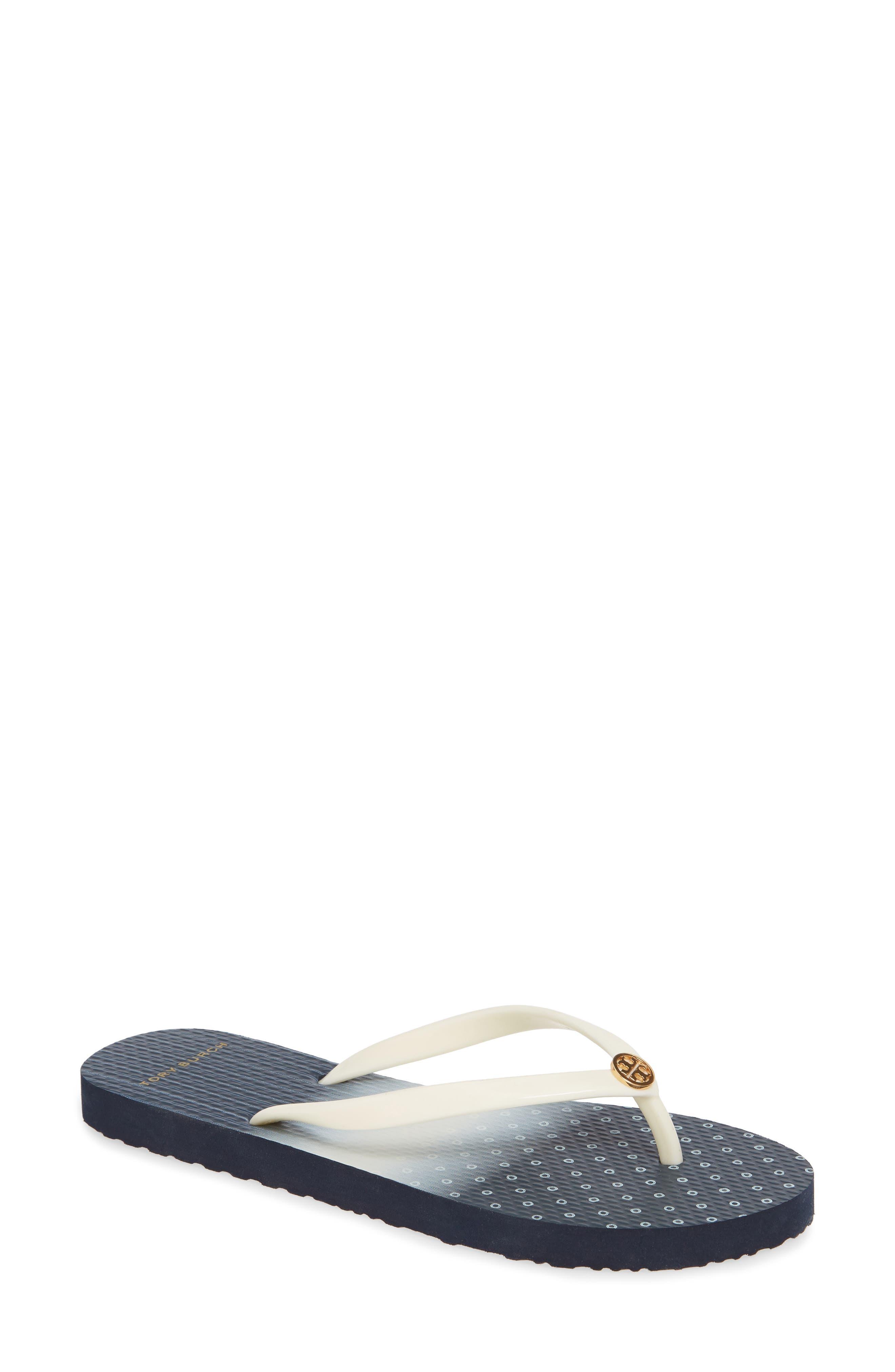 Thin Flip Flop, Main, color, IVORY/ SHIBORI DIP DYE