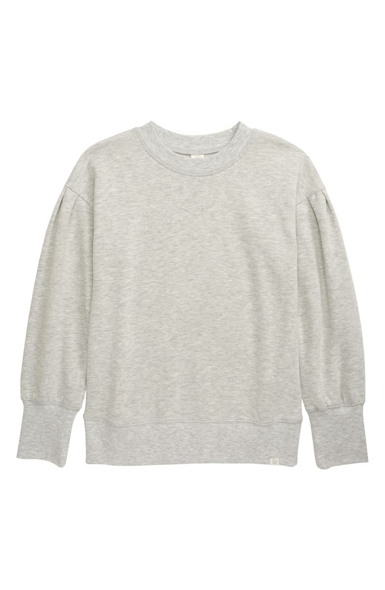TREASURE & BOND Kids' Gathered Sleeve Cotton Blend Sweatshirt, Main, color, 050