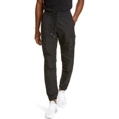 John Elliott High Shrunk Nylon Water Repellent Cargo Pants, Black