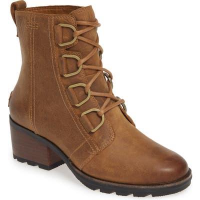 Sorel Cate Waterproof Lace-Up Boot- Brown