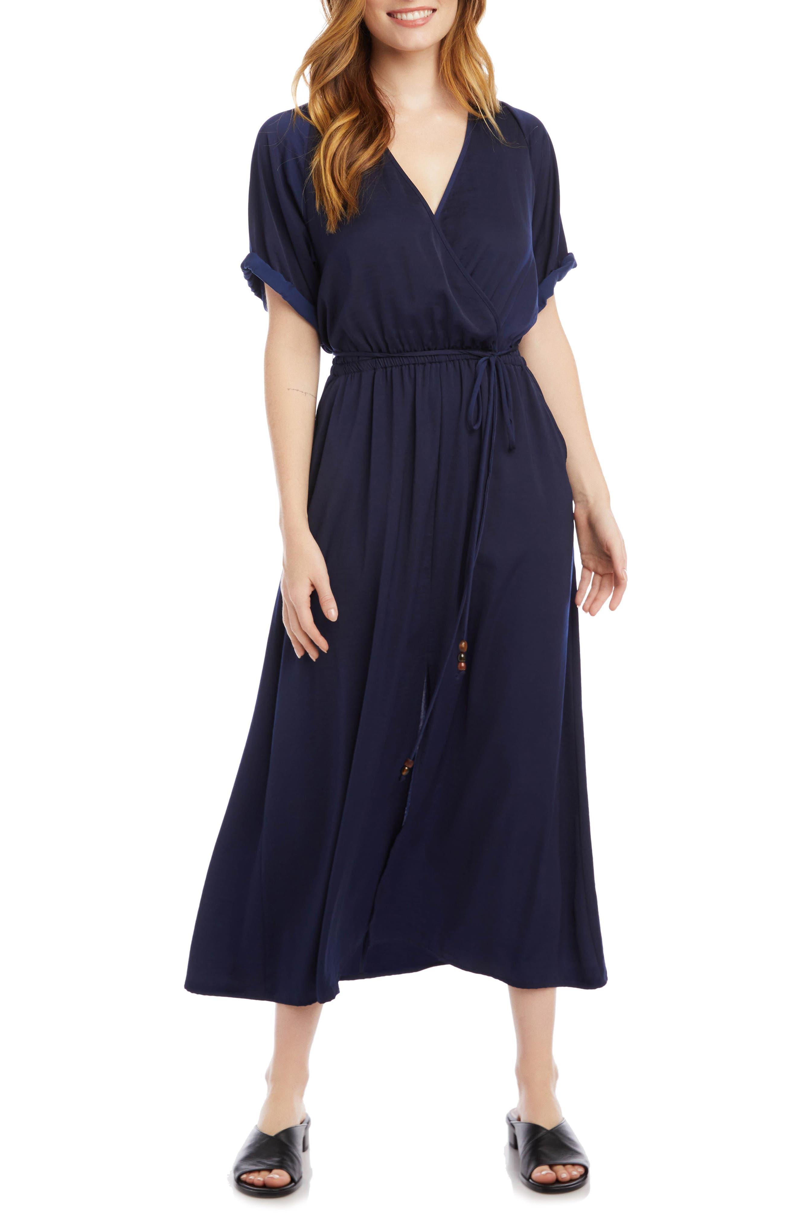 Cuffed Sleeve Midi Dress
