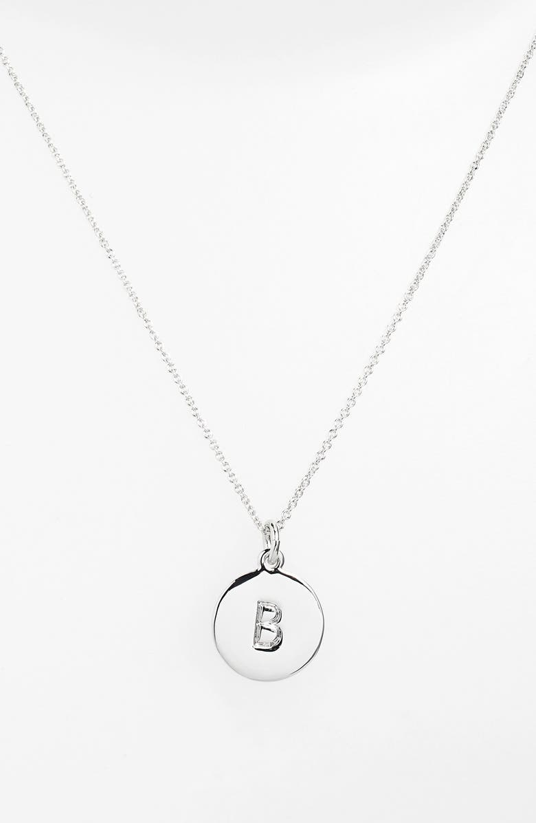KATE SPADE NEW YORK 'one in a million' initial pendant necklace, Main, color, SILVER B