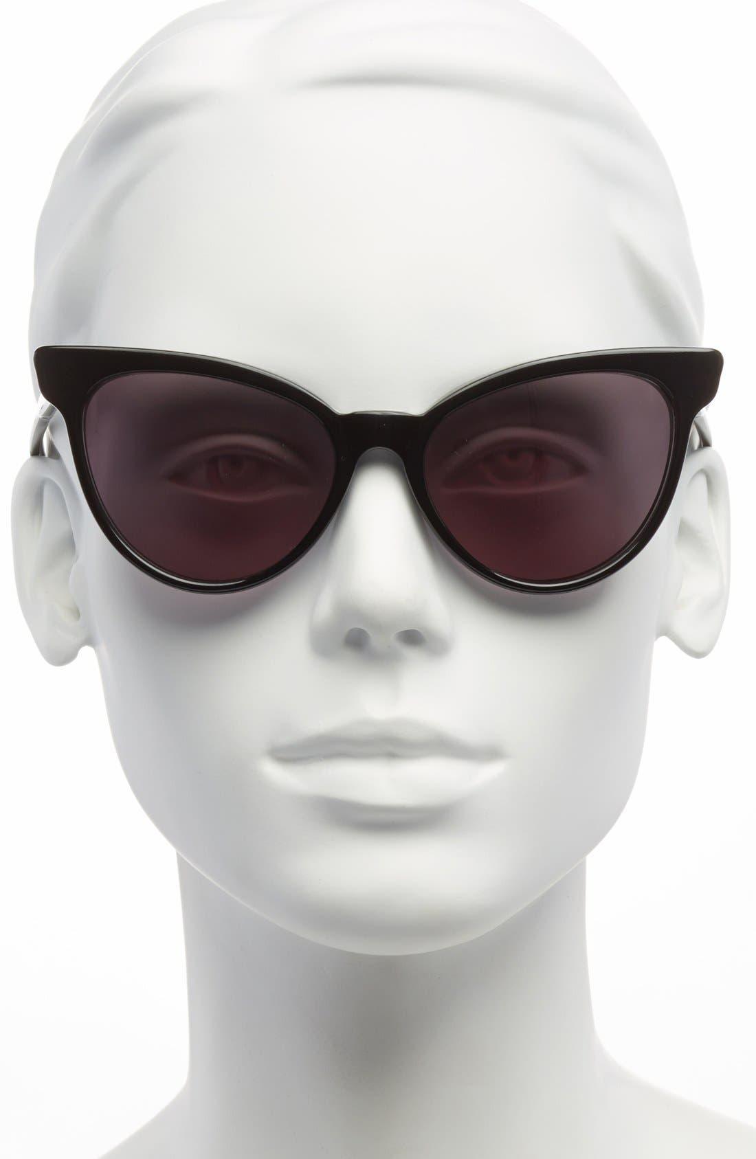 ,                             'La Femme' 55mm Sunglasses,                             Alternate thumbnail 4, color,                             002