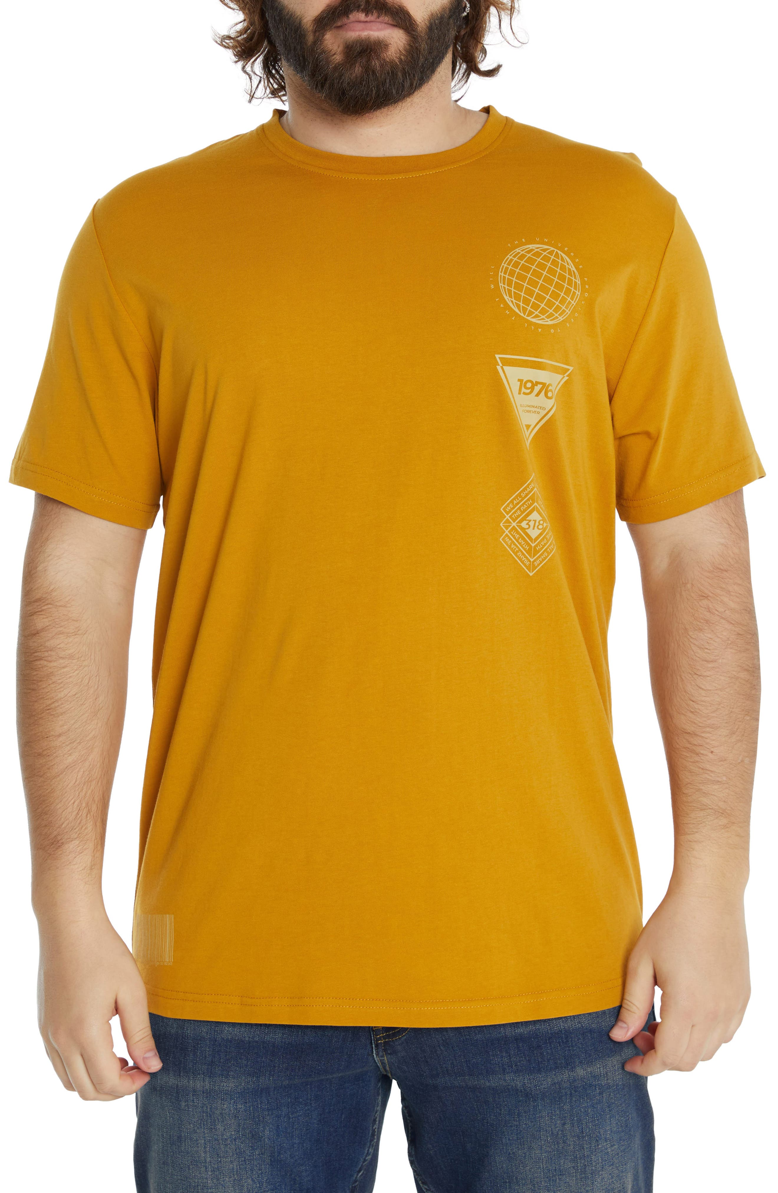 Coded Longline Cotton Graphic Tee