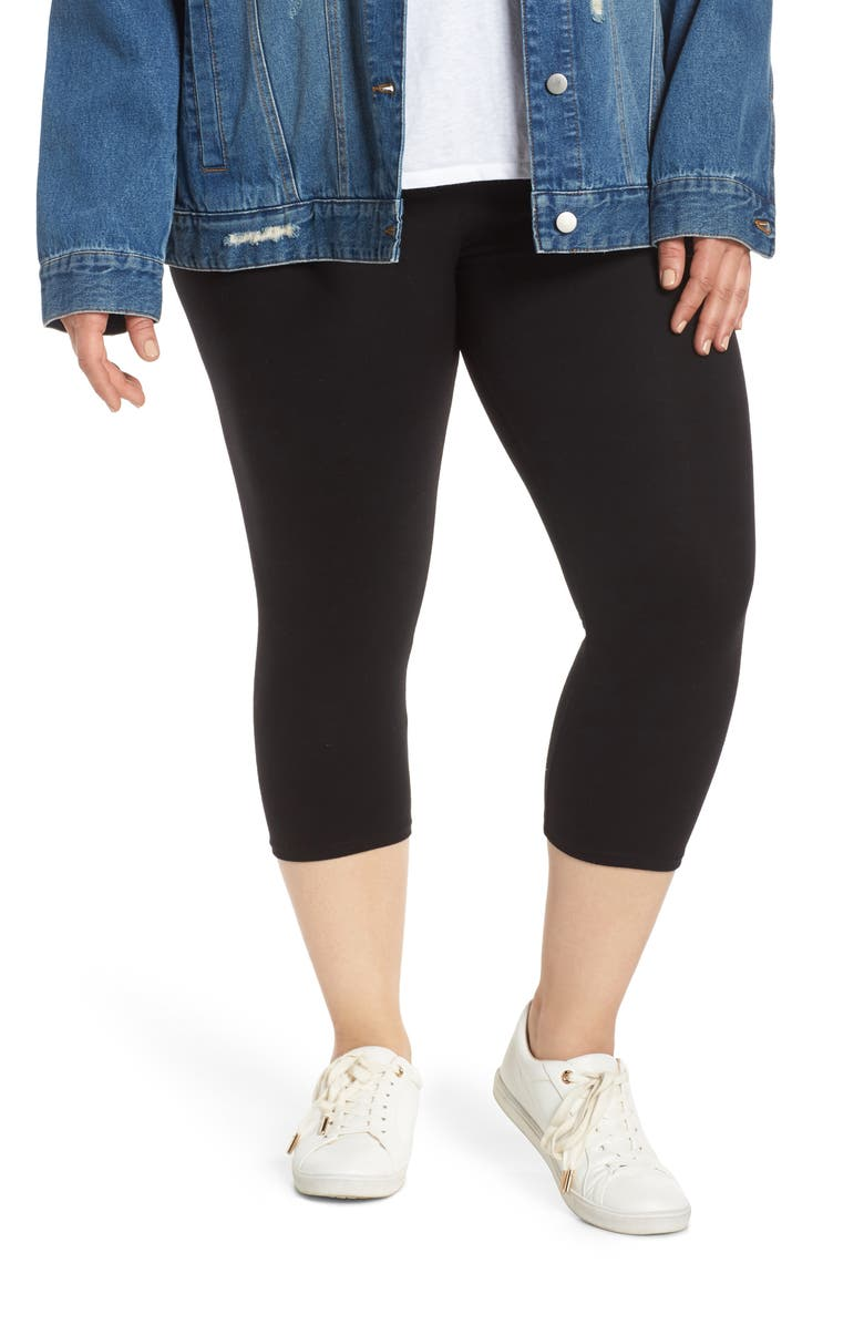 NORDSTROM Go To Capri Leggings, Main, color, BLACK