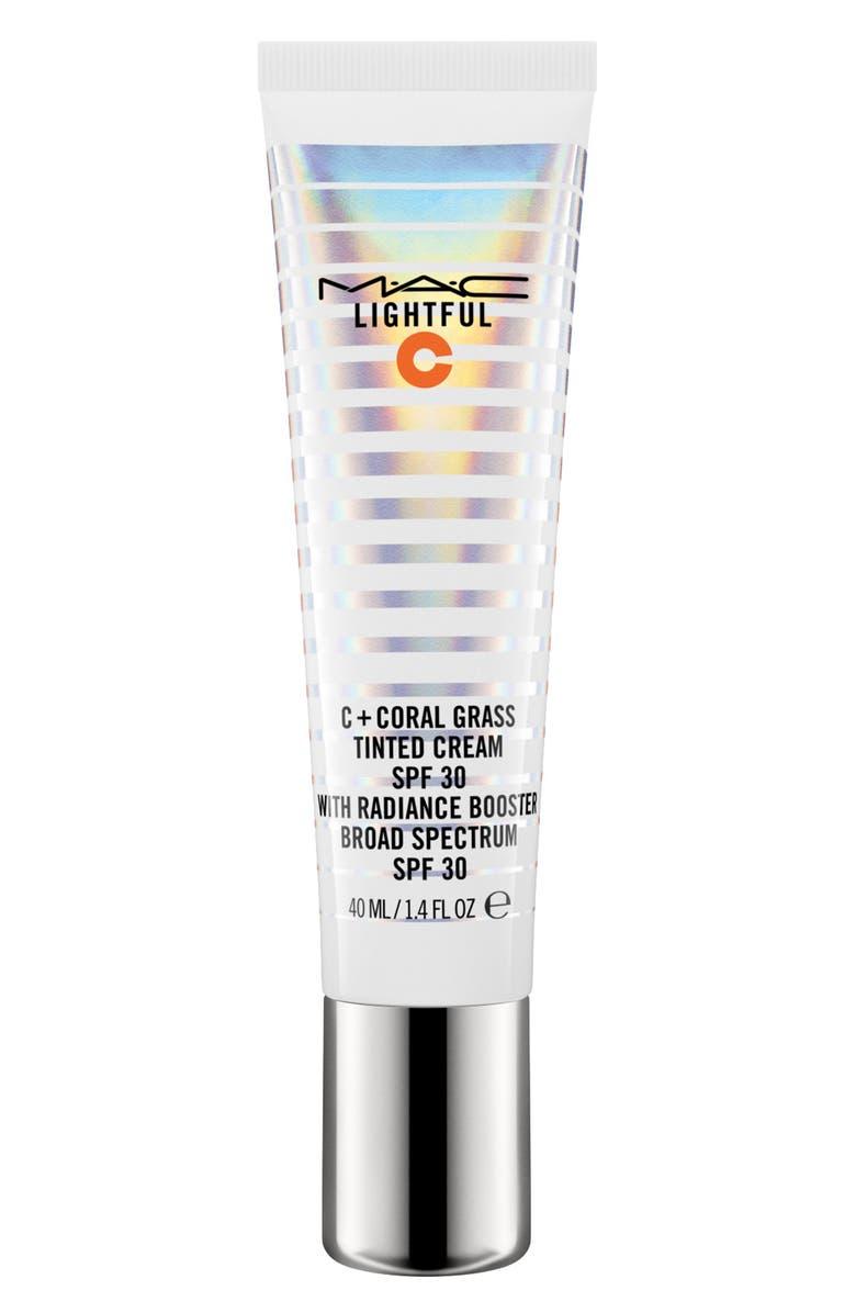 MAC COSMETICS MAC Lightful C Coral Grass Tinted Cream SPF 30, Main, color, LIGHT