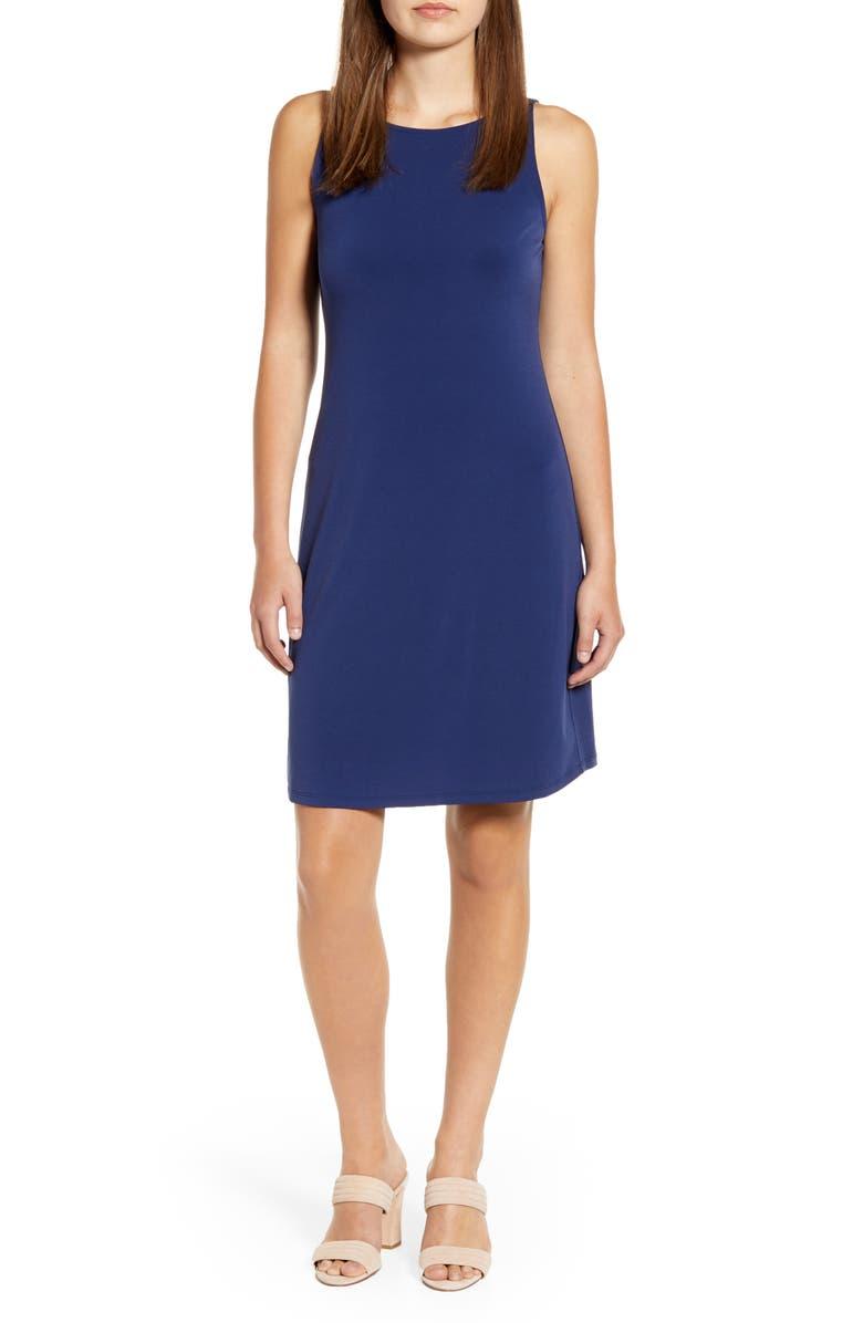 TOMMY BAHAMA Matte Jersey Sleeveless Dress, Main, color, ISLAND NAVY