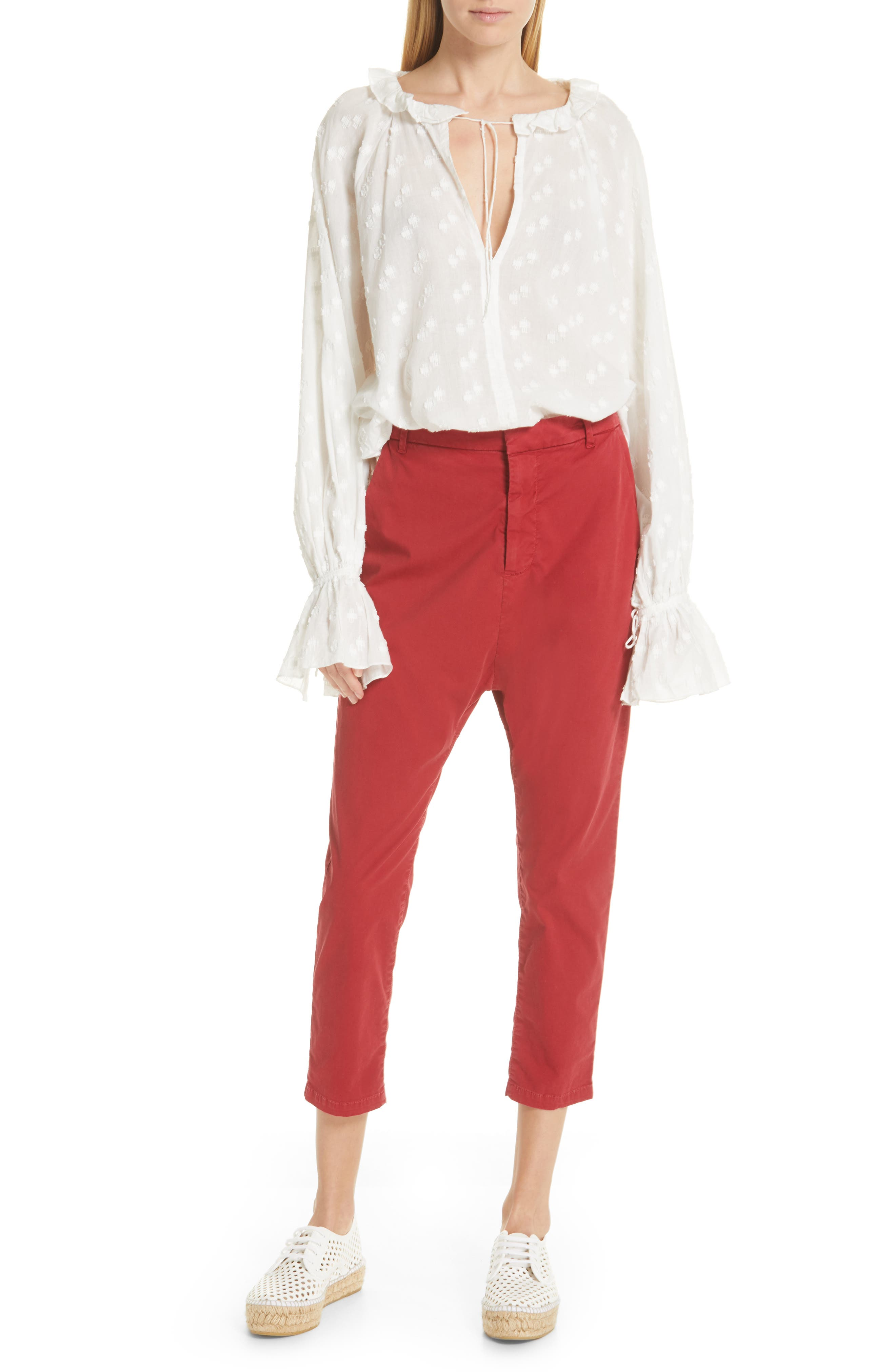 ,                             Paris Pants,                             Alternate thumbnail 8, color,                             SUNKISSED RED