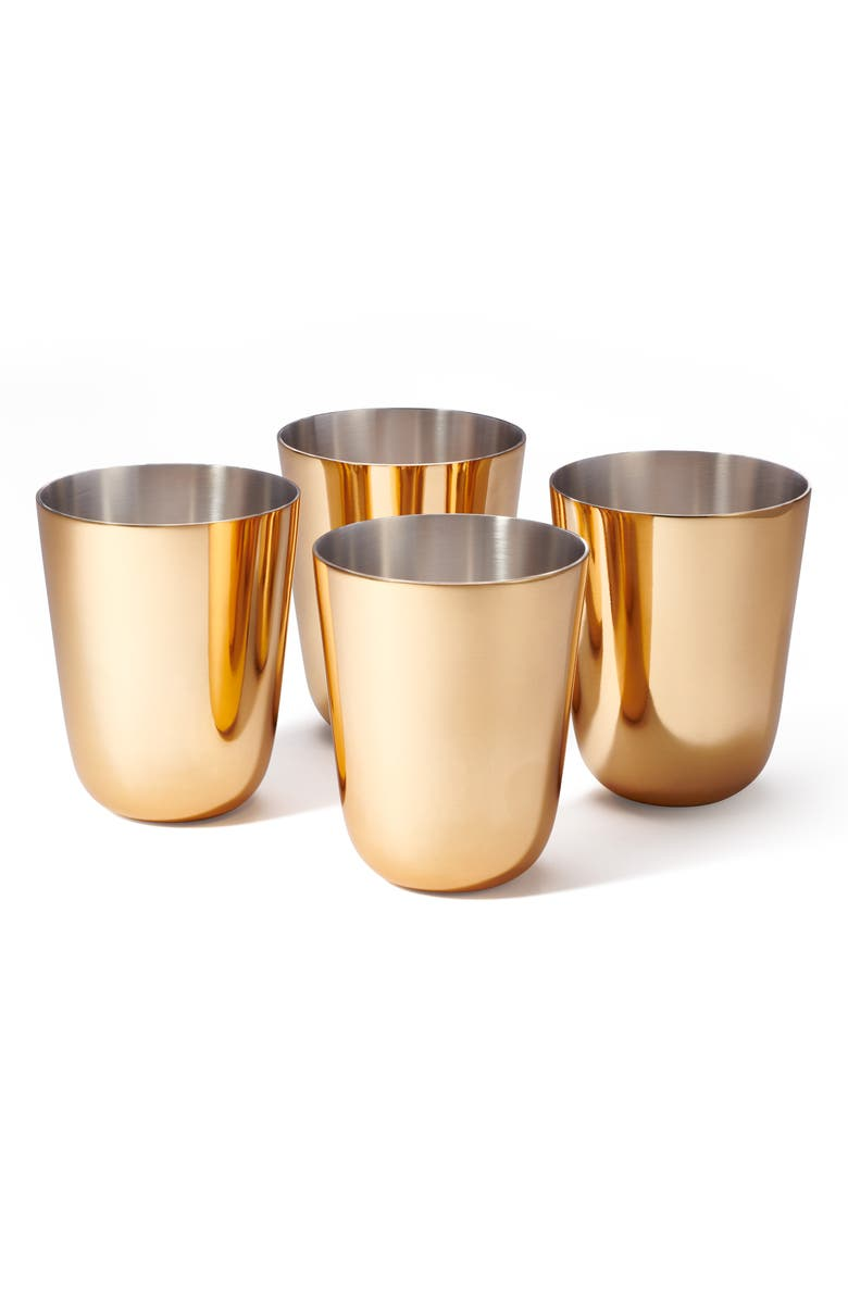AERIN Fausto Set of 4 Julep Cups, Main, color, GOLD