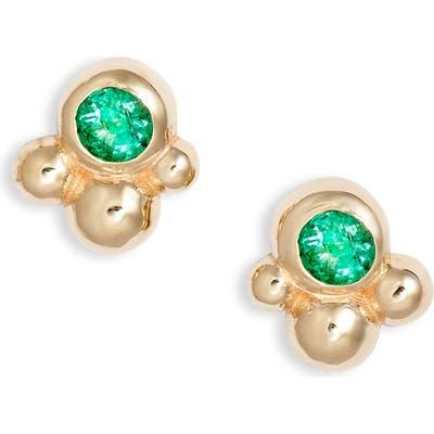 Anzie Bonheur Bubbling Brook 14K Gold Stud Earrings