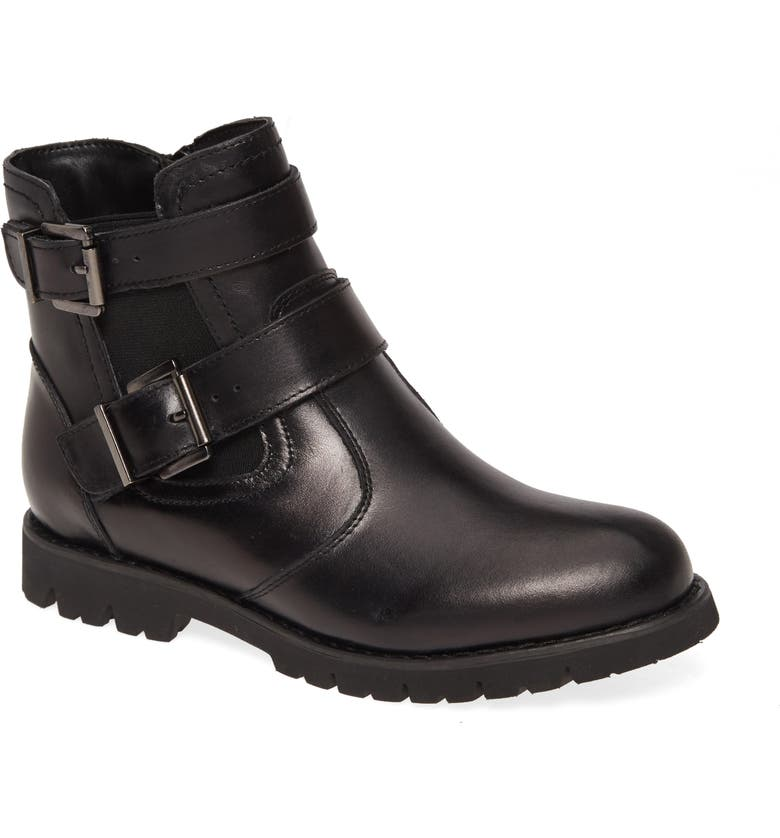 DAVID TATE Jaden Bootie, Main, color, BLACK LEATHER