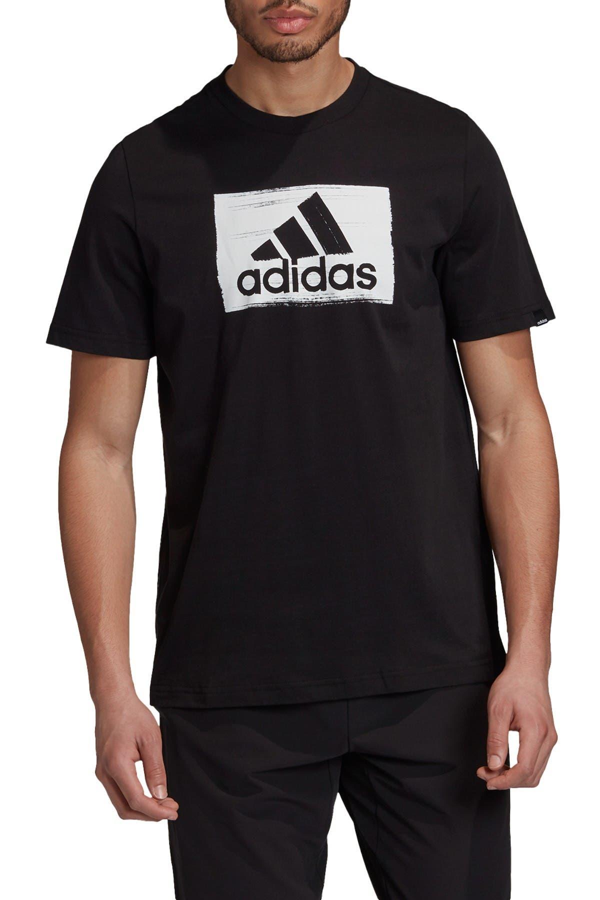 Image of adidas Brushstroke Logo T-Shirt