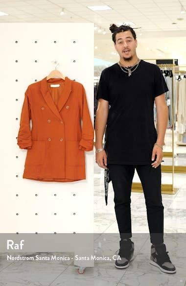 Verona Long Sleeve Linen Blend Blazer Minidress, sales video thumbnail