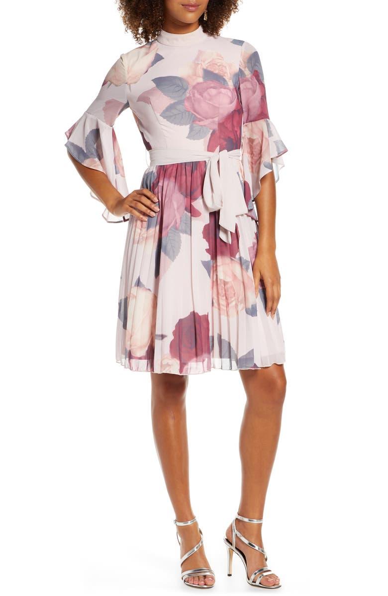 CHI CHI LONDON Florentia Floral Print Cocktail Dress, Main, color, MULTI