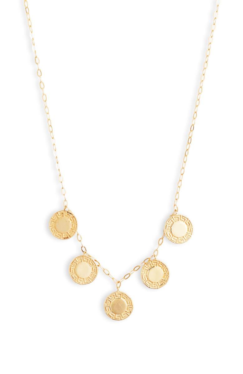ARGENTO VIVO Grecian Charm Necklace, Main, color, GOLD