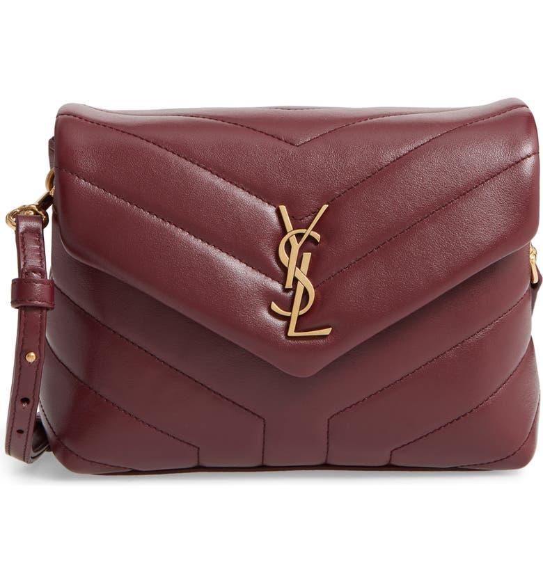 SAINT LAURENT Toy Loulou Matelassé Leather Crossbody Bag, Main, color, ROUGE LEGION