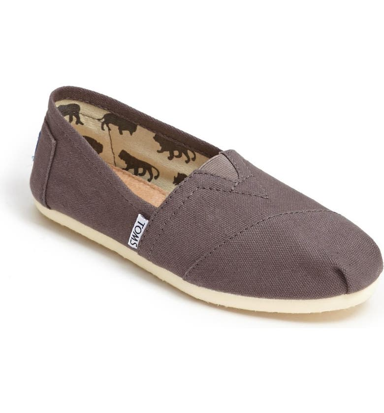 TOMS Classic Canvas Slip-On, Main, color, ASH CANVAS