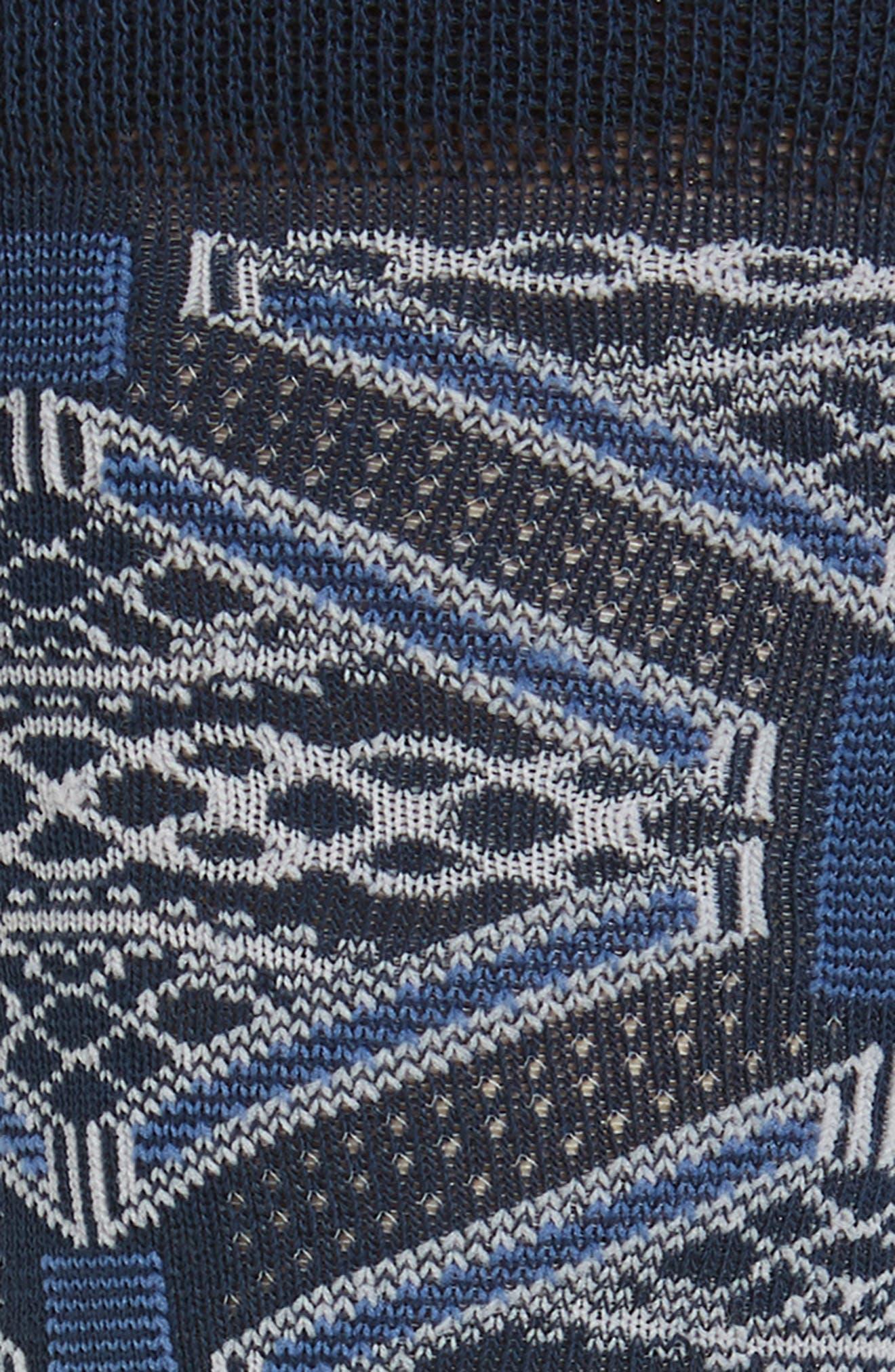 ,                             Penster Geometric Socks,                             Alternate thumbnail 2, color,                             NAVY