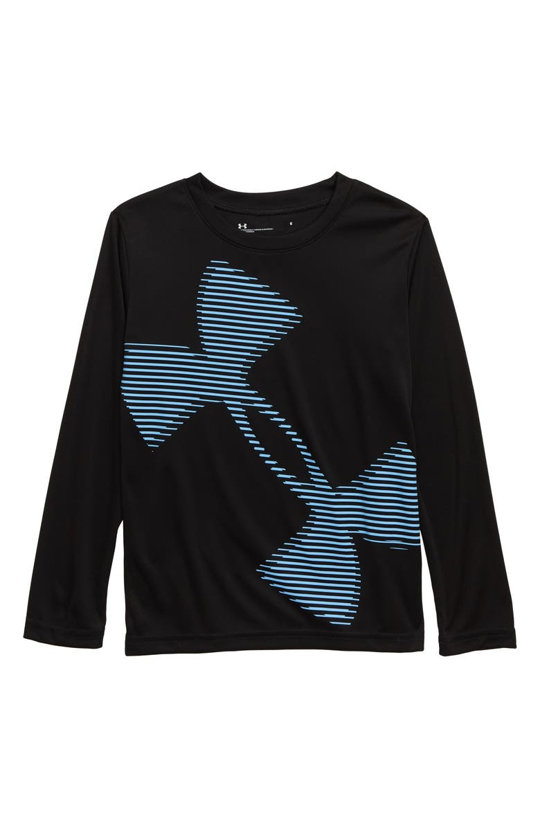UNDER ARMOUR Tilted Logo Graphic Shirt, Main, color, BLACK