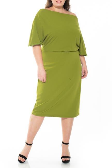 Image of Alexia Admor Olivia Draped One Shoulder Sheath Dress