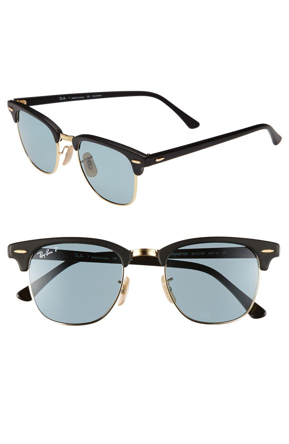 ,                             'Clubmaster' 49mm Polarized Sunglasses,                             Main thumbnail 4, color,                             400