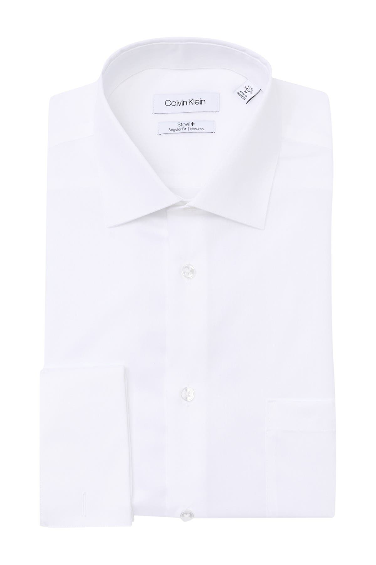 Image of Calvin Klein Steel+ Regular Fit Dress Shirt