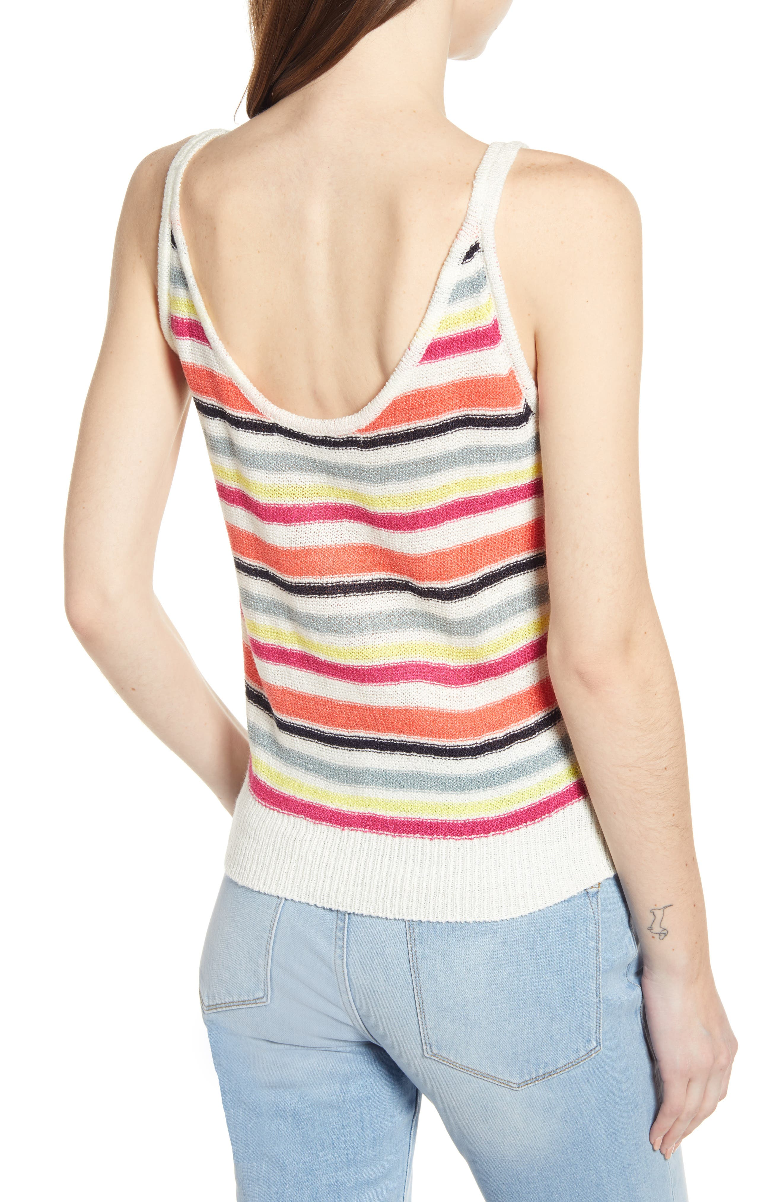 ,                             Aeon Stripe Sweater Tank,                             Alternate thumbnail 2, color,                             IVORY