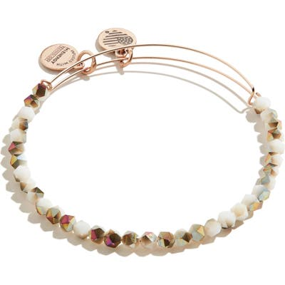 Alex And Ani Splendor Ii Beaded Expandable Wire Bangle