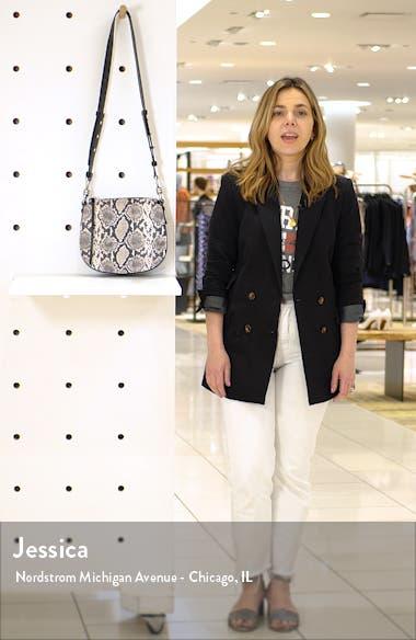 Sliver Snake Print Leather Crossbody Bag, sales video thumbnail