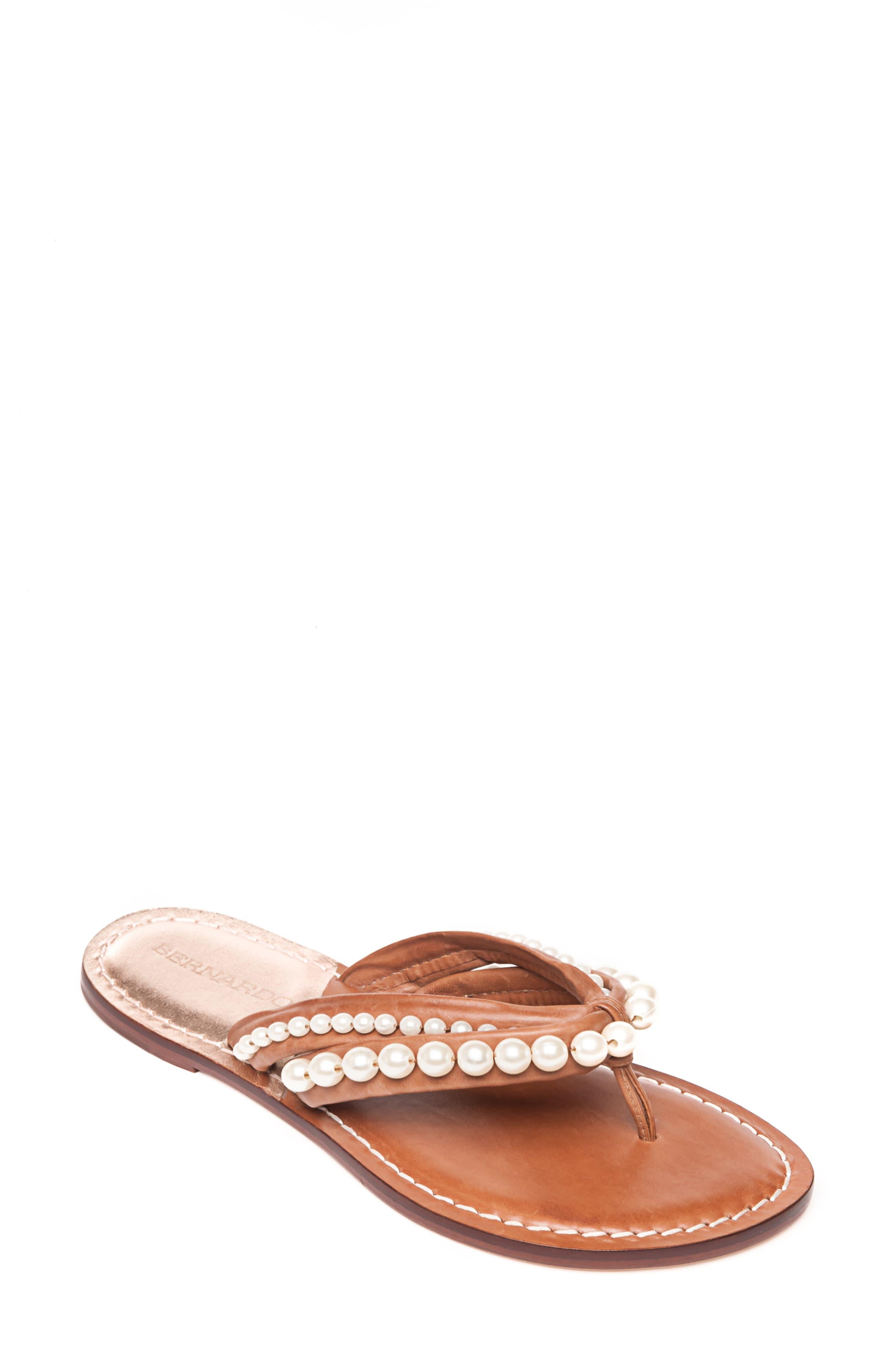 Miami Imitation Pearl Flip Flop