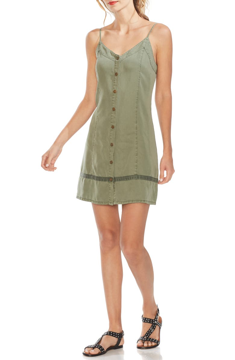 VINCE CAMUTO Twill Sundress, Main, color, 312
