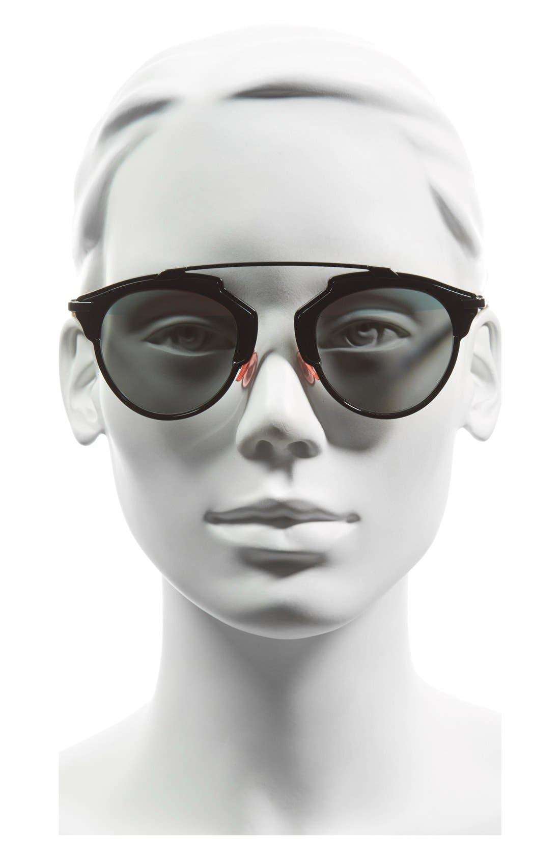 ,                             So Real 48mm Brow Bar Sunglasses,                             Alternate thumbnail 11, color,                             003
