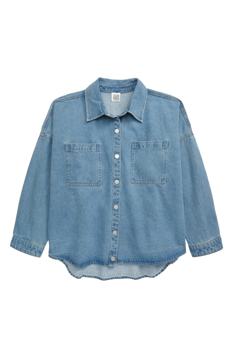 SEED HERITAGE Denim Shirt, Main, color, 400