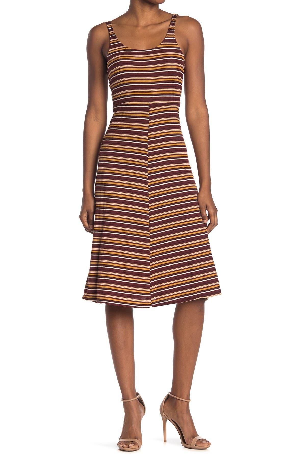 Image of Velvet Torch Ribbed Tank A-Line Midi Dress