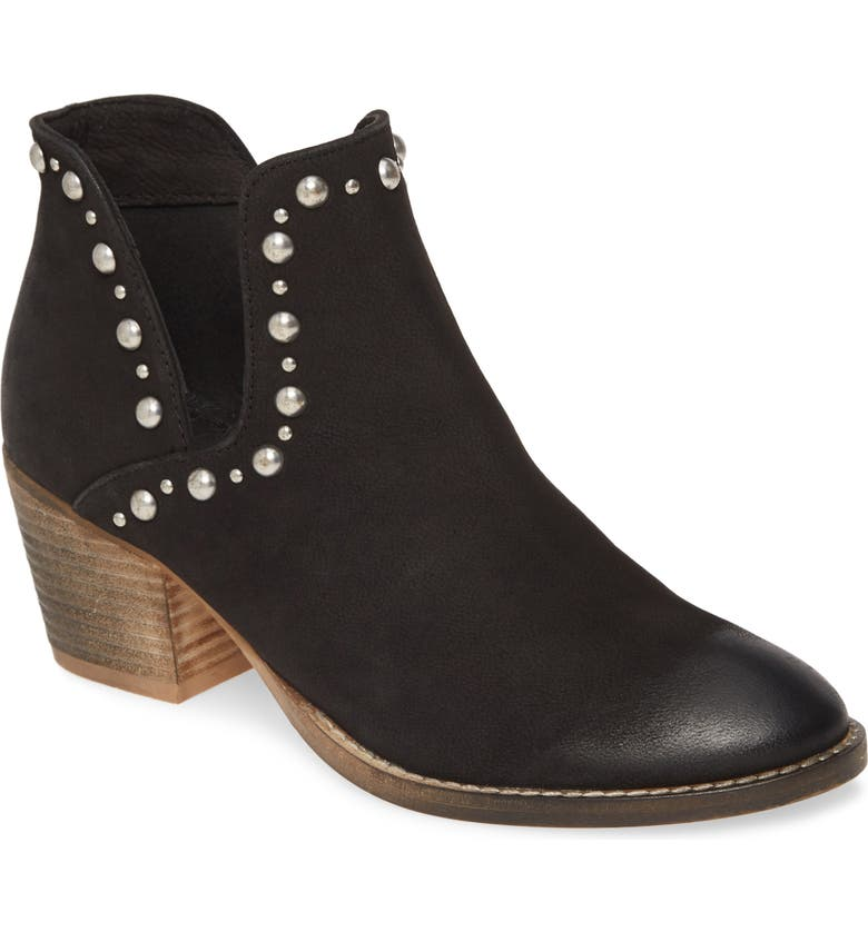 REBELS Gal Bootie, Main, color, BLACK LEATHER