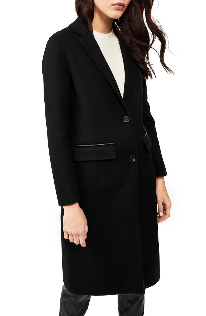 MACKAGE Hens Double Face Wool Coat, Main, color, BLACK