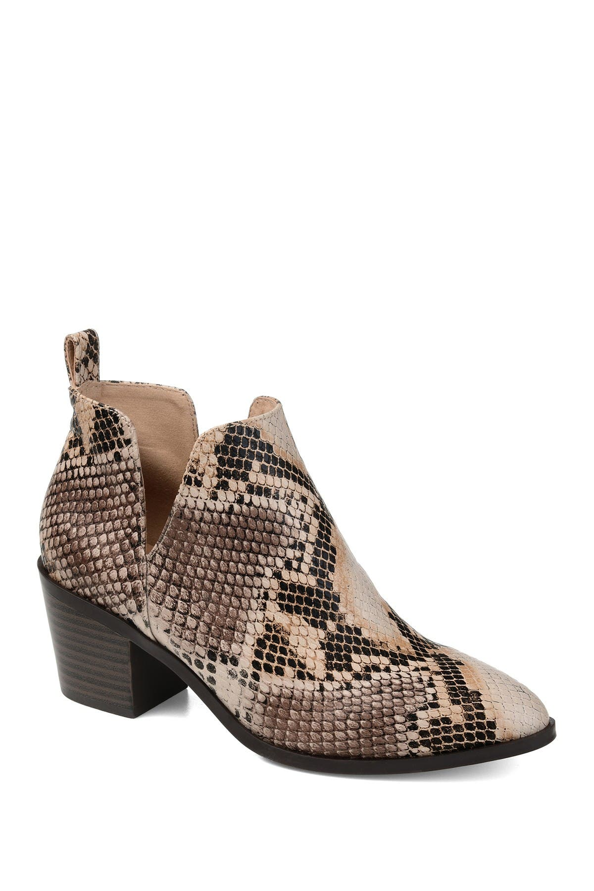 Image of JOURNEE Collection Lola Patterned Ankle Bootie