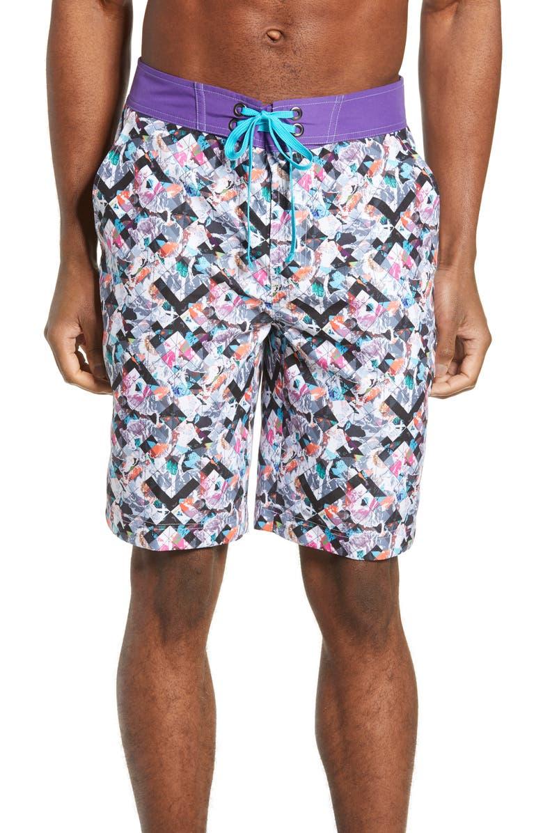 ROBERT GRAHAM Marshlands Board Shorts, Main, color, MULTI