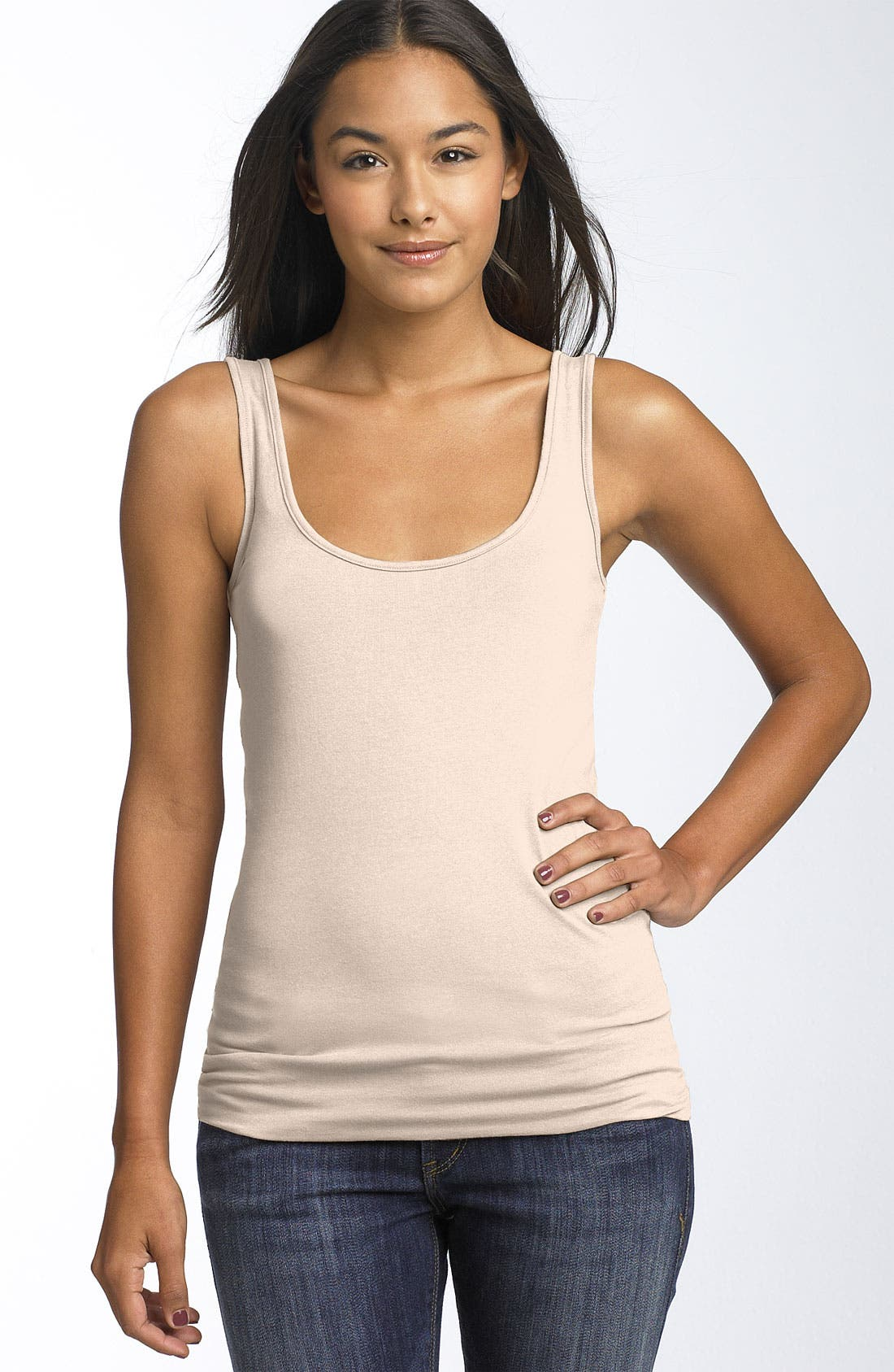 ,                             Double Scoop Neck Tank,                             Main thumbnail 307, color,                             687