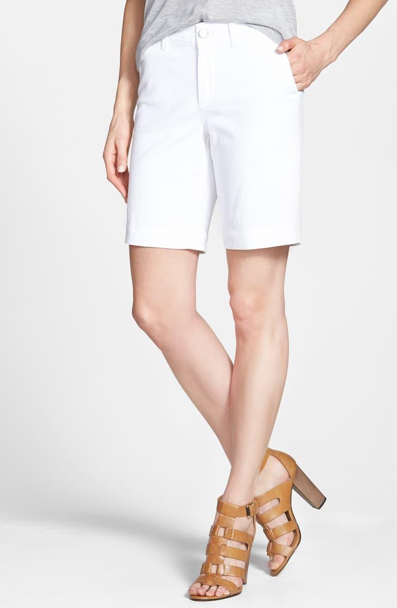NYDJ 'Hadley' Stretch Twill Bermuda Shorts, Main, color, 103