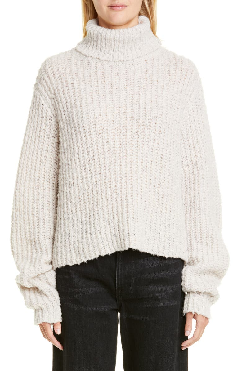 SIMON MILLER Wool Blend Turtleneck Sweater, Main, color, OATMEAL