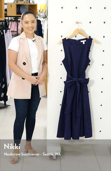 Tie Waist Sleeveless Cotton Eyelet Dress, sales video thumbnail