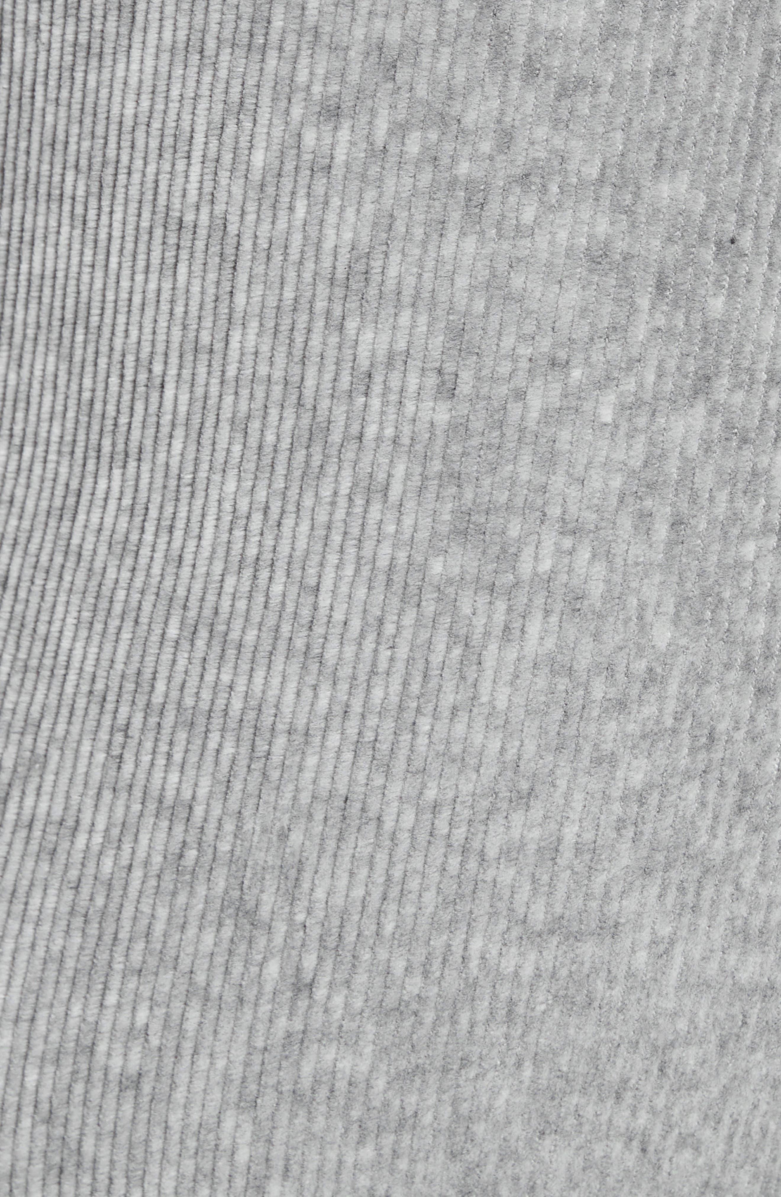 ,                             Logo Stripe Corduroy Pants,                             Alternate thumbnail 5, color,                             HEATHER GREY