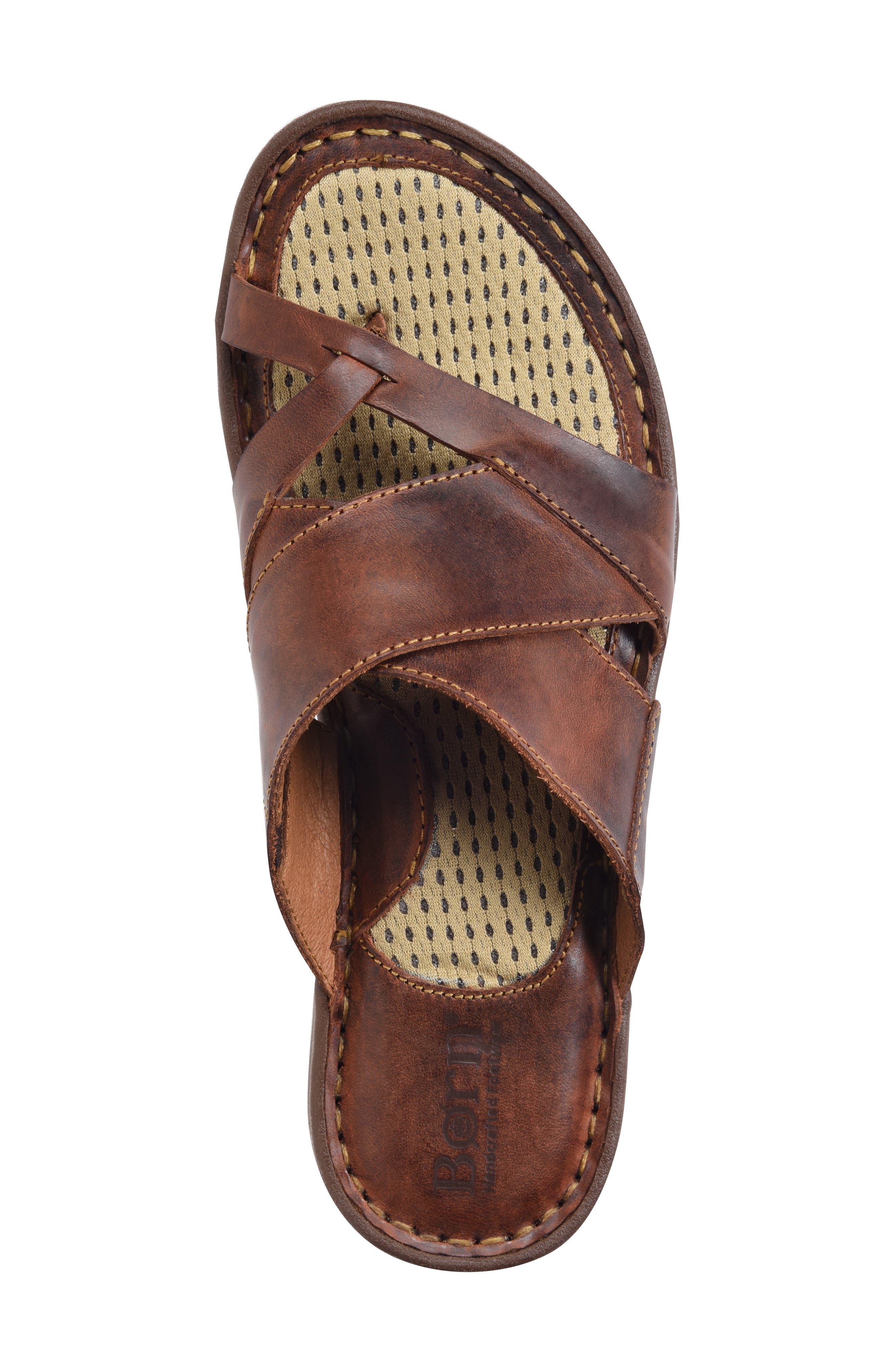 ,                             Sorja II Slide Sandal,                             Alternate thumbnail 5, color,                             BROWN LEATHER
