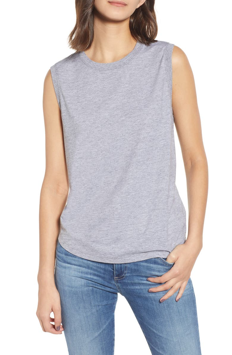 AG Ryker Relaxed Muscle Tank, Main, color, HEATHER GREY