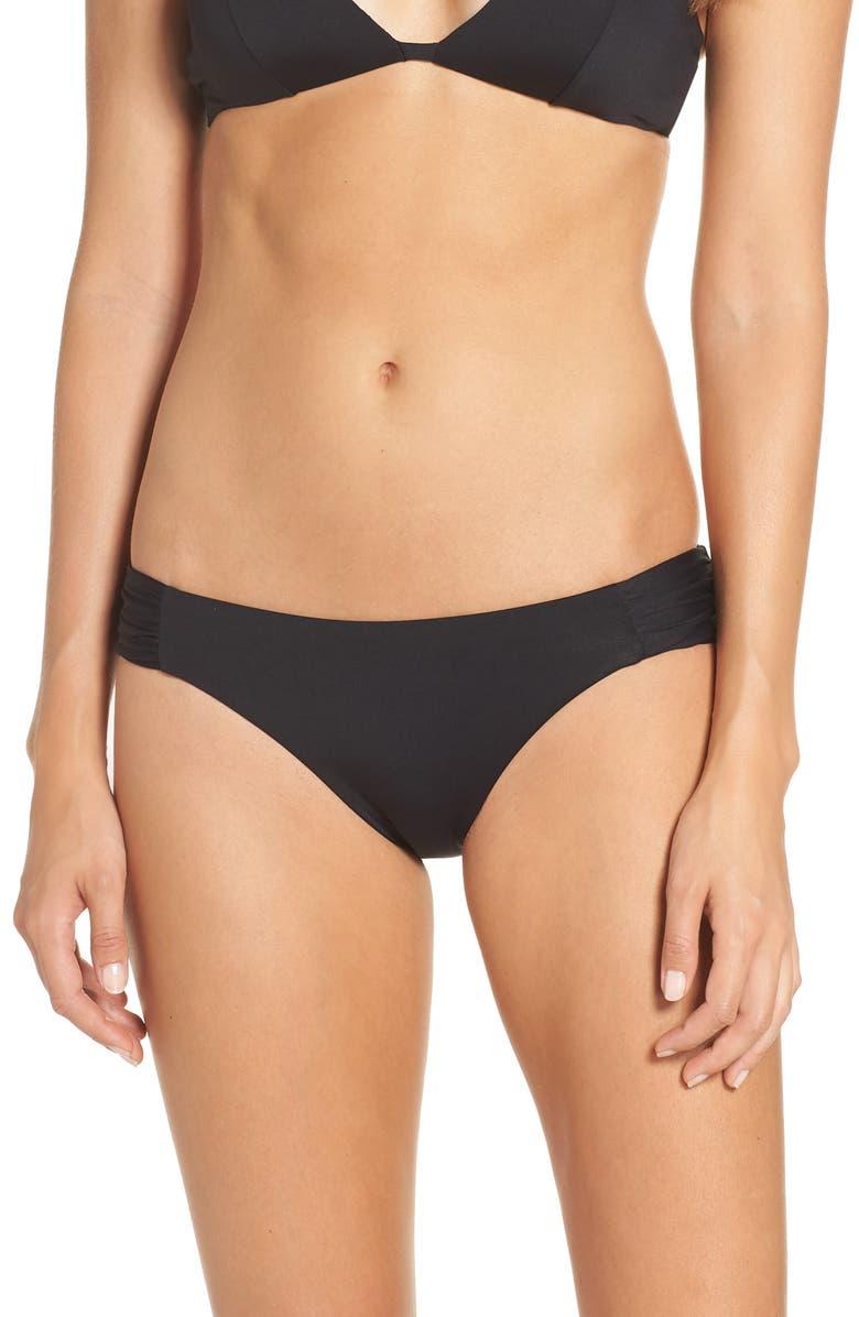 BECCA Color Code Bikini Bottoms, Main, color, BLACK